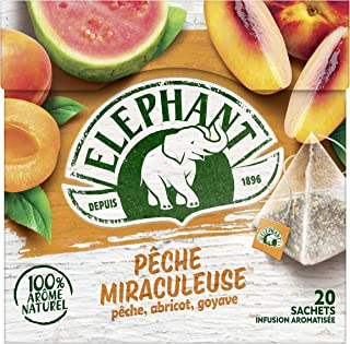 Elephant Infusion Abricot Pêche Goyave 20 Sachets 38g