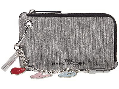 Marc Jacobs Glitter Stripe Goodies Coin Purse (Silver) Clutch Handbags
