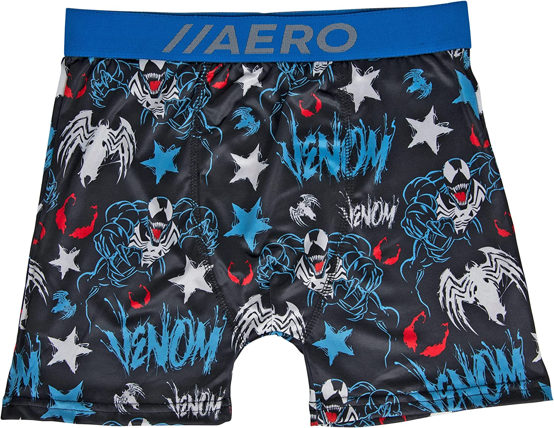 Marvel Venom Character and Symbol All Over Aero Boxer Briefs Underwear