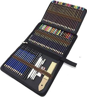 Crayons de Dessin, 72 pcs Crayon de Croquis et Crayons de Couleur -Taillés pour Coloriage et Dessin - Cadeau Idéal pour Ar...
