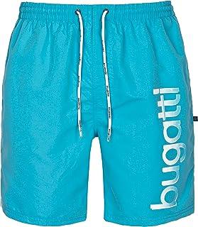 Bugatti - Pantaloncini da uomo da spiaggia in blu, turchese e Nero