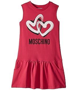 Sleeveless Heart Logo Graphic Dress (Big Kids)