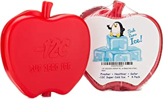 ICE PACK for LUNCH BOX, BAG, Cute Vibrant Red Apple Super Cool Leakproof Easy to Find and Clean ICE PACK for Healthier Fresher Safer Food Sandwiches Drinks Milk Kids Toddlers Children (4 Pack)