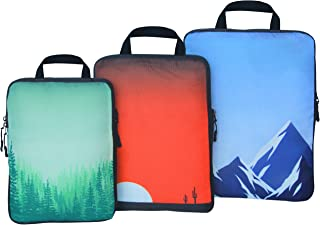 travelbug Compression Packing Cubes Set | Opens Completely for Easy Packing | Travel Organizers