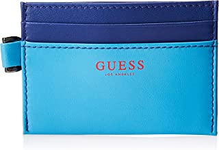 Guess Mens Card Holder, Sky Blue/Dark Blue, One Size - 31GUE20053