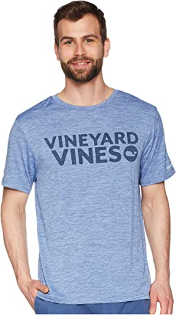 Vineyard Vines - Short Sleeve Perf VV Space Dyed Tee
