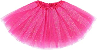 Girl's Princess Layered Dress-Up Tulle Tutu Skirt with Sparkling Sequins