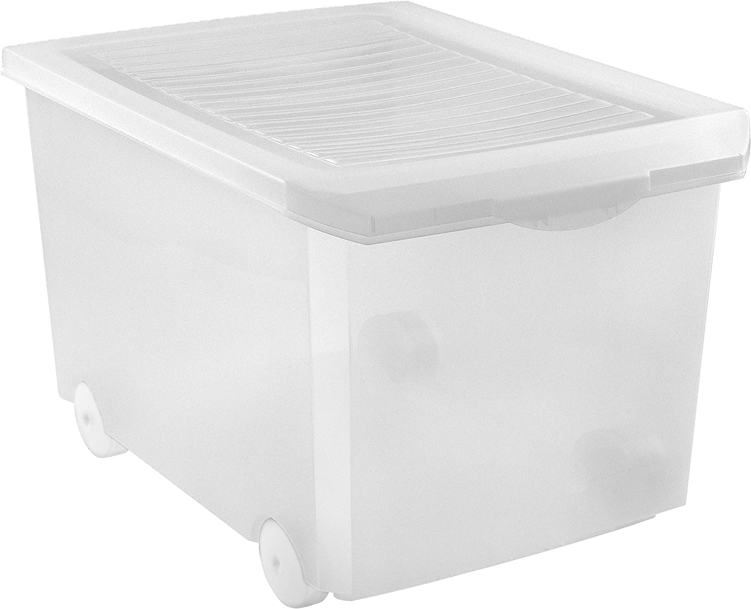 specialty shop TATAY Storage Box with price Transparent 60 Litre Wheels
