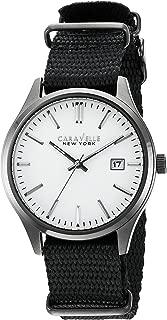 Caravelle New York Men's Quartz Stainless Steel Dress Watch (Model: 45B142)