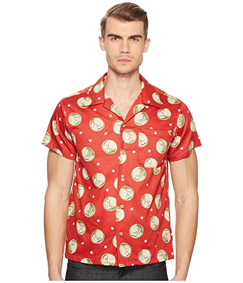 NAKED & FAMOUS Japanese Springtime Shirt, Red
