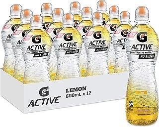Gatorade G-Active Lemon Flavoured Electrolyte Water, 12 x 600ml