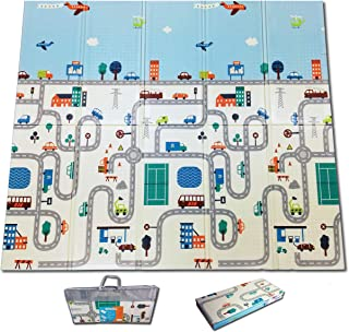 Fun N Well Foldable XPE Baby Play Mat | King Size 197x178x1cm | Non Allergenic & Non Toxic Foam | Waterproof & Reversible...
