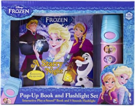 Disney Frozen Elsa, Anna, Olaf, and More! - Pop-up Book and Flashlight Toy Set - PI Kids