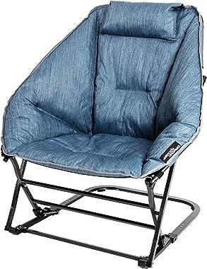 Mac Sports RF904DR-100 Diamond Rocker Chair, Steel Blue