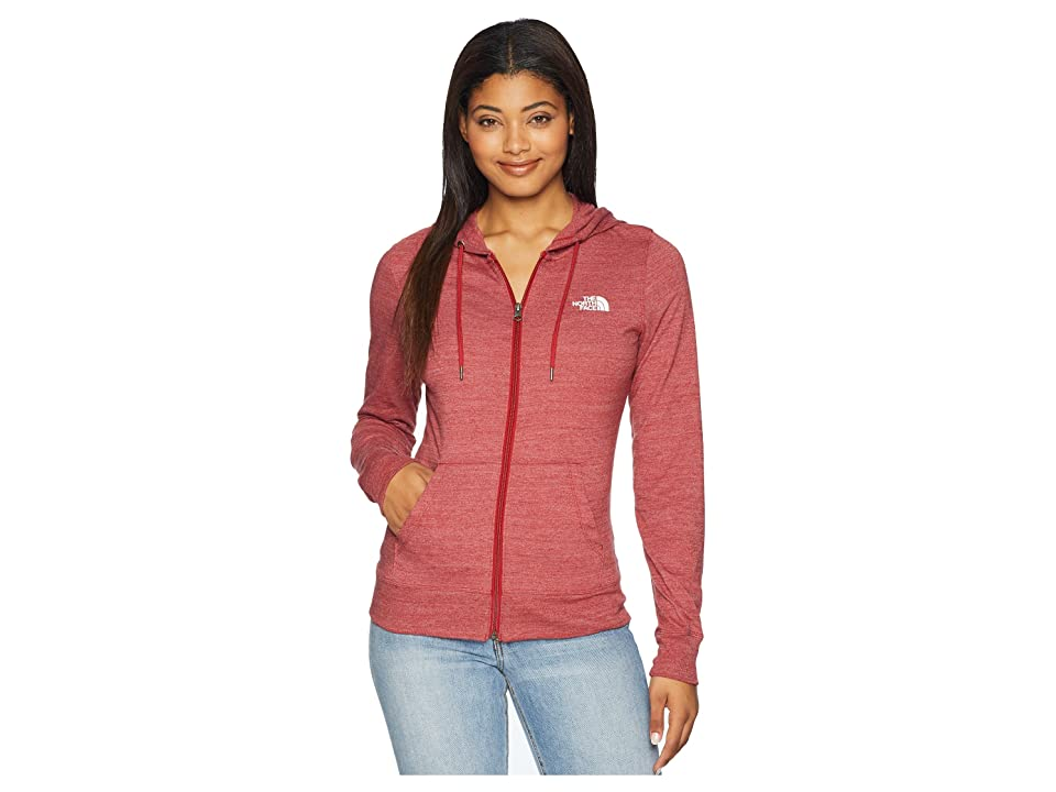 The North Face Americana Full Zip Hoodie (Cardinal Red Heather) Women