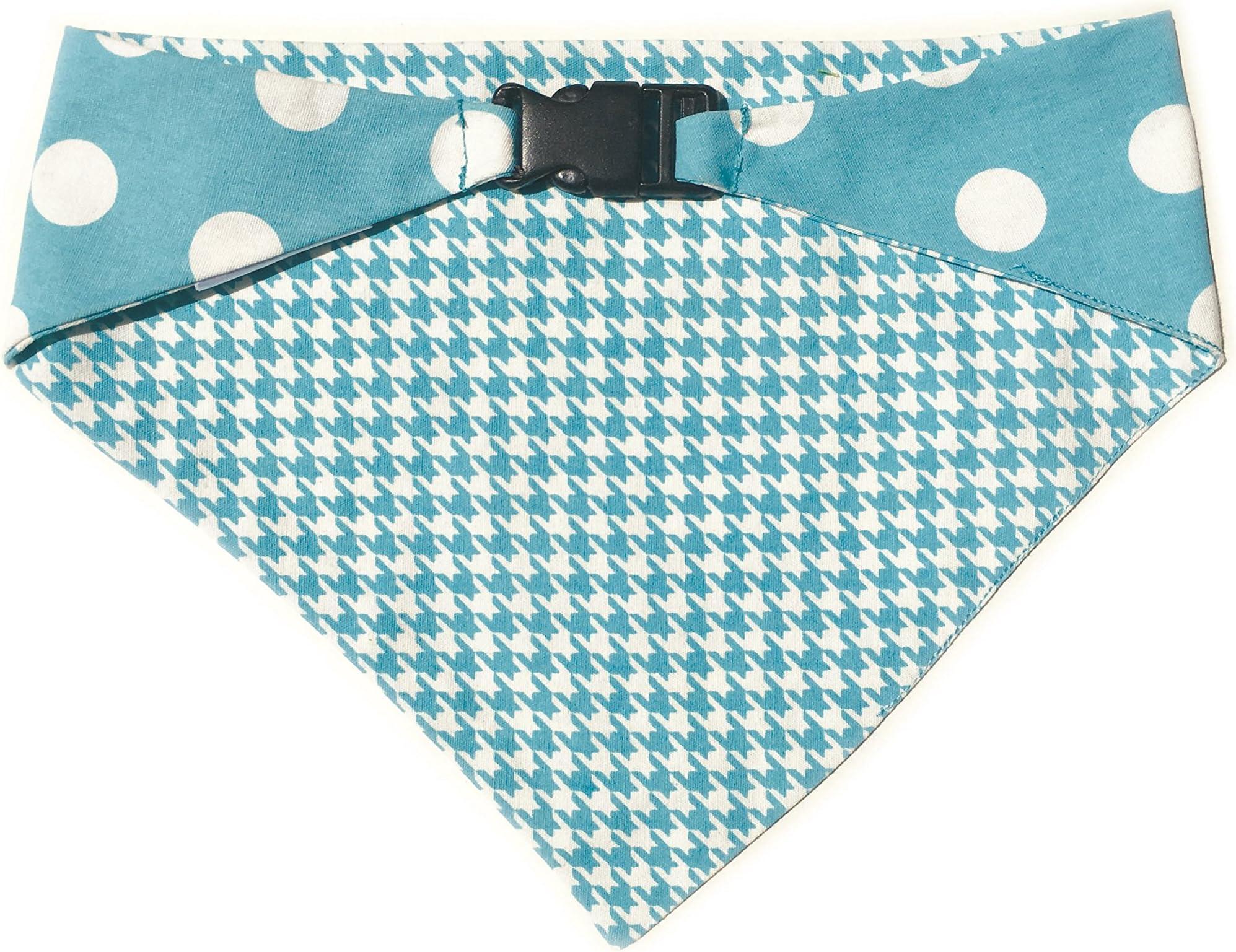 Cherrylicious bandana  Dog bandana reversible  over the collar  Snap On