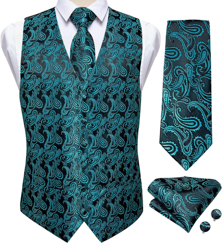Mens Wedding Paisley Suit Outlet sale feature Special sale item Vest Squ Waistcoat Necktie and Pocket