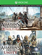 Assassin's Creed IV Black Flag & Assassin's Creed Unity Digital [Xbox One] Download Card 2 Game Bundle