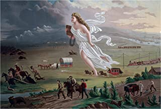 Wall Art Print ~ John Gast's American Progress. Manifest Destiny USA History (13