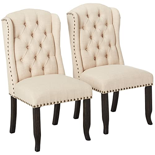 Wingback Dining Room Chairs: Amazon.com