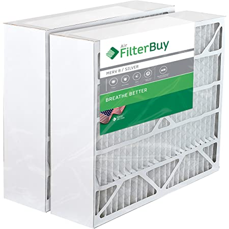 Pack of 12 Filters FilterBuy 16x32x2 MERV 8 Pleated AC Furnace Air Filter, 16x32x2 Silver