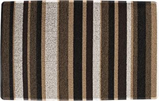 "Ritz Tufted Door Mat with No-Slip Backing, 18"" x 29"", Neutral"