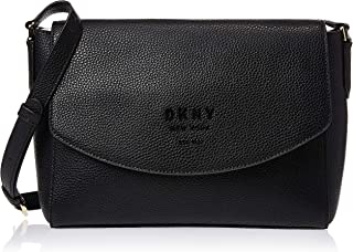 DKNY Women's Crossbody, Black/Vicuna - R91FHA76
