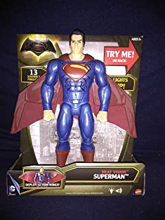 Batman vs Superman Heat Vision Superman Electronic Light Up Chest And Eyes Figure With Deploy Action Wings And 15 Sounds & Phrases New In Unopened Box