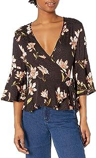 قميص نوم نسائي ملفوف مطبوع عليه زهور من MINKPINK