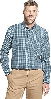 Arrow Men's Long Sleeve Plaid Hamilton Shirt Button, Legion Blue, S