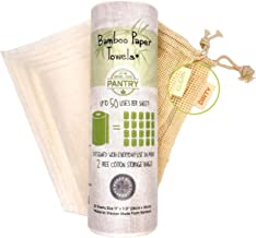 Bamboo Paper Towels From Grow Your Pantry 1 Pack - Eco Friendly, Machine Washable & Reusable for Multipurpose - Comes with...