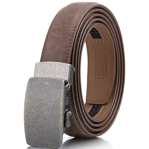 23b8fe88a Marino Men s Genuine Leather Ratchet Dress Belt With Automatic Buckle