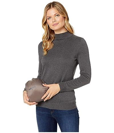 Bernardo Fashions EcoPlume Hooded Packable Puffer Jacket (Antique Silver) Women