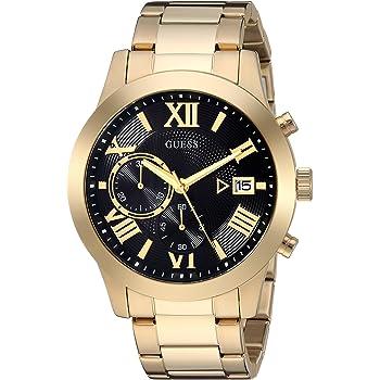 GUESS メンズ ステンレススチール 2トーン カジュアル 腕時計 NS ゴールド