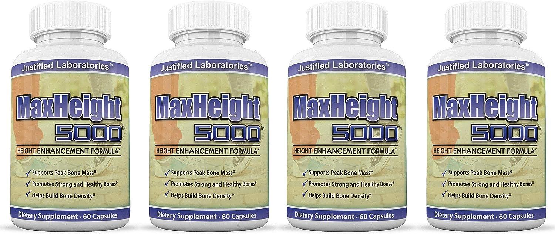 MaxHeight 5000 Height Enhancement Max 71% OFF Bone Growth mart 60 Capsule Formula