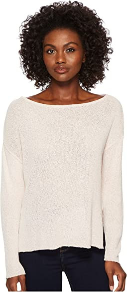 Three Dots Boucle Sweater Knit Drop Sleeve Top
