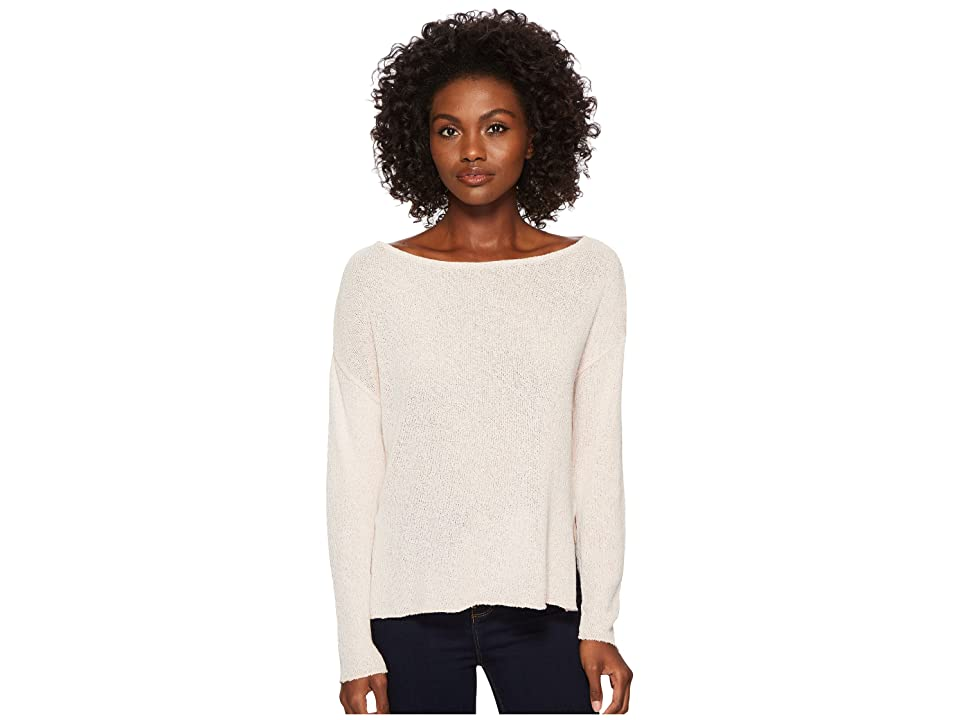 Three Dots Boucle Sweater Knit Drop Sleeve Top (Cameo) Women
