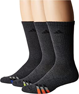 Cushioned Color Crew Socks 3-Pack