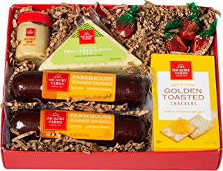 Hickory Farms Double Sausage and Cheese Sampler Gift Set (1.07 Lbs)