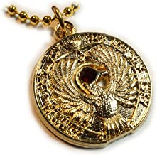 Raiders of the Lost Ark Staff of Ra Medallion Charm Necklace Pendant with Ball Chain