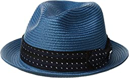 Stacy Adams - Poly Braid Pinch Front Fedora with Fancy Bow