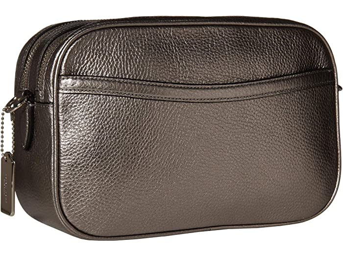 Coach Metallic Pebbled Leather Jes Crossbody - Brand Bags