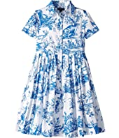 Oscar de la Renta Childrenswear - Floral Cotton Day Dress (Toddler/Little Kids/Big Kids)