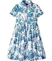 Floral Cotton Day Dress (Toddler/Little Kids/Big Kids)