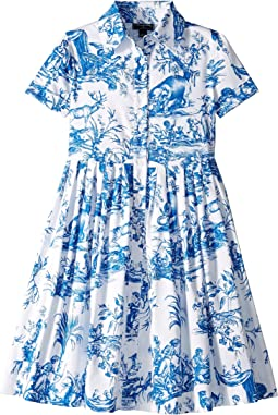 Floral Cotton Day Dress (Toddler/Little Kids/Big Kids)