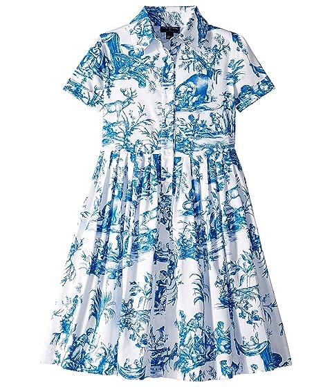 Oscar de la Renta Childrenswear Floral Cotton Day Dress (Toddler/Little Kids/Big Kids)