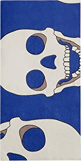 Skull Blue & White Paper Napkin, Eco Friendly 3-Ply wood pulp (Pack of 20) Exclusive Design By Thomas Fuchs Creative