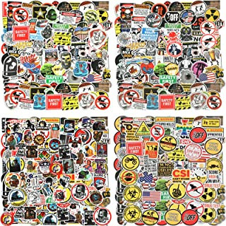 200 Sheets Hard Hat Stickers Funny Construction Vinyl Waterproof Tool Box Stickers American Patriotic Helmet Decals for To...