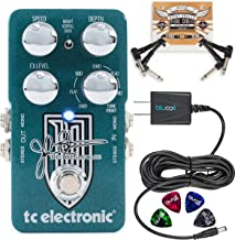 TC Electronic Dreamscape Multi-Effects Pedal, John Petrucci Signature Bundle with Blucoil Slim 9V 670ma Power Supply AC Adapter, 2-Pack of Pedal Patch Cables, and 4-Pack of Celluloid Guitar Picks