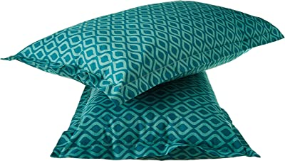 Amazon Brand - Solimo Damask Dreams 144 TC 100% Cotton Double Bedsheet with 2 Pillow Covers, Green